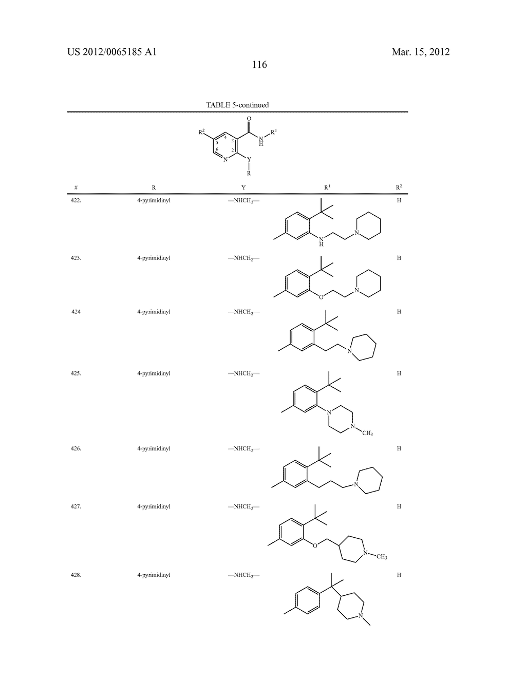 SUBSTITUTED ALKYLAMINE DERIVATIVES AND METHODS OF USE - diagram, schematic, and image 117