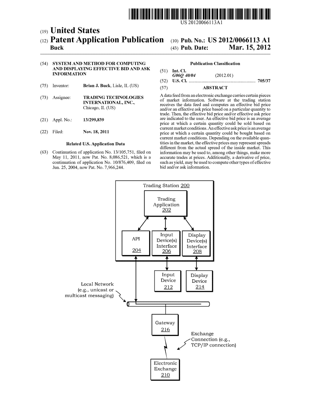 System and Method for Computing and Displaying Effective Bid and Ask     Information - diagram, schematic, and image 01