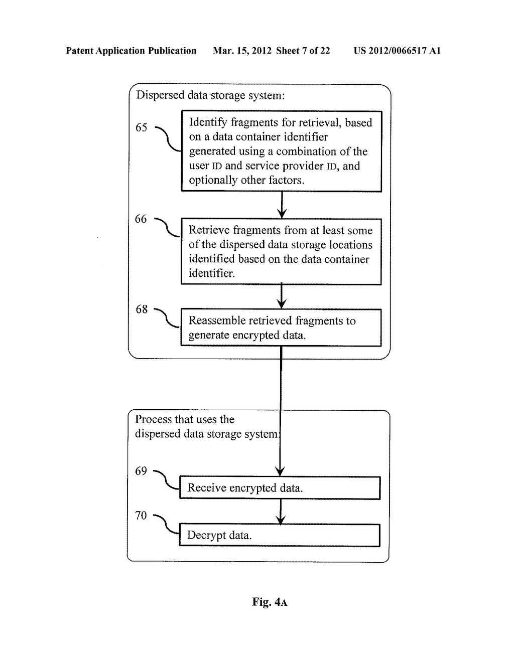 DISPERSED SECURE DATA STORAGE AND RETRIEVAL - diagram, schematic, and image 08