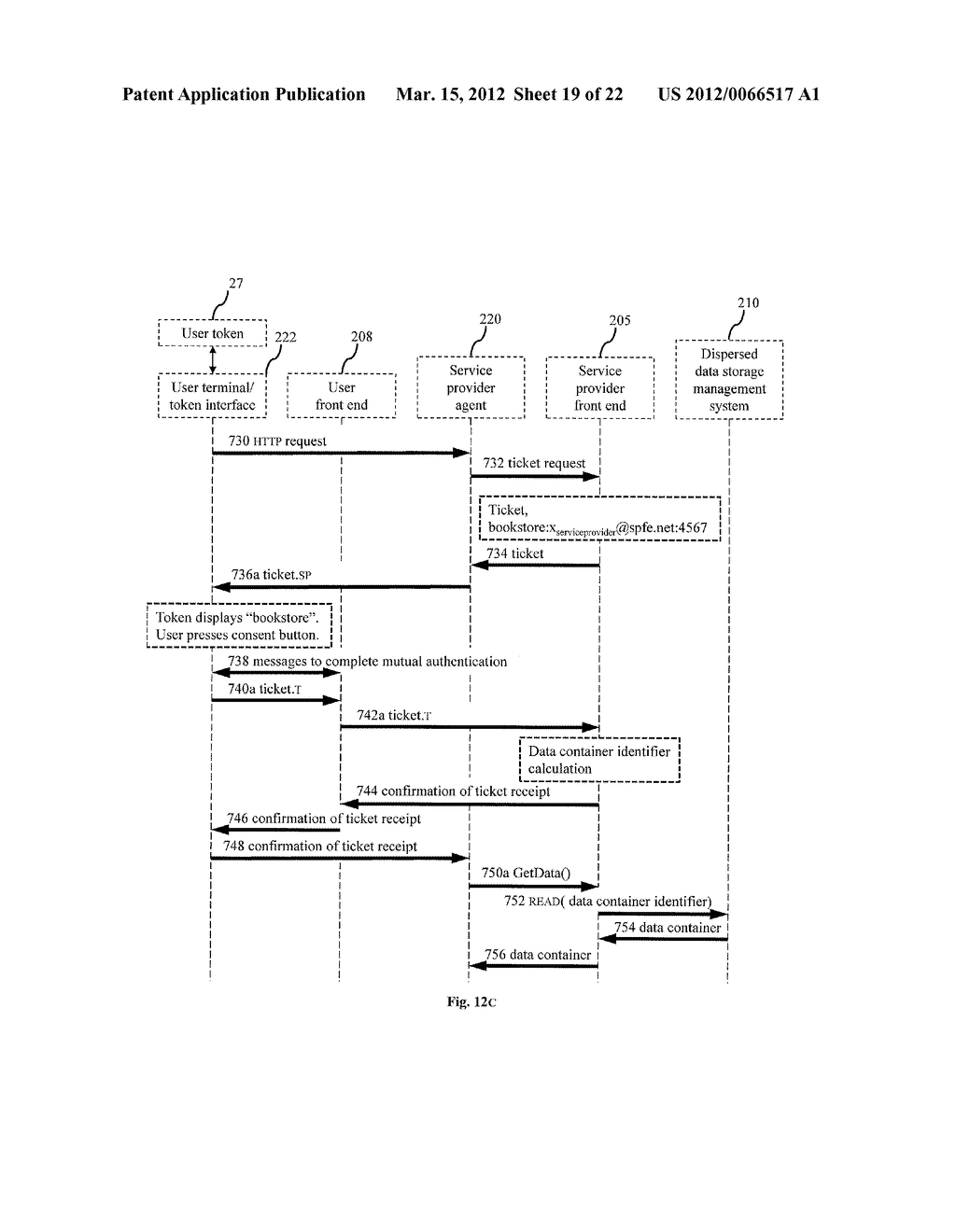 DISPERSED SECURE DATA STORAGE AND RETRIEVAL - diagram, schematic, and image 20