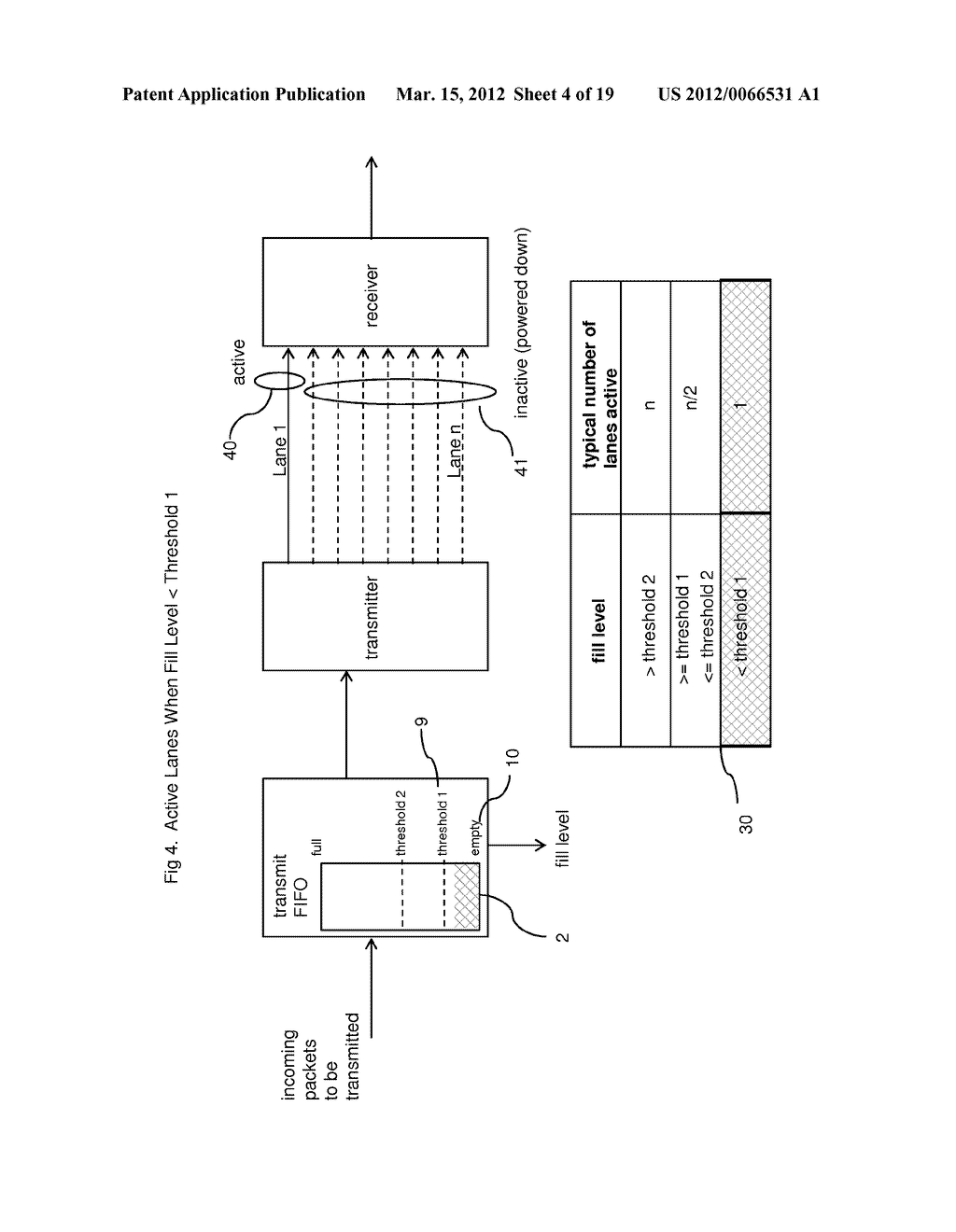 METHOD AND APPARATUS FOR ADAPTIVE POWER CONTROL IN A MULTI-LANE     COMMUNICATION CHANNEL - diagram, schematic, and image 05