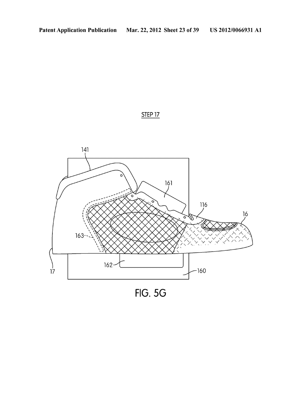 Shoe with Composite Upper and Foam Element and Method of Making Same - diagram, schematic, and image 24