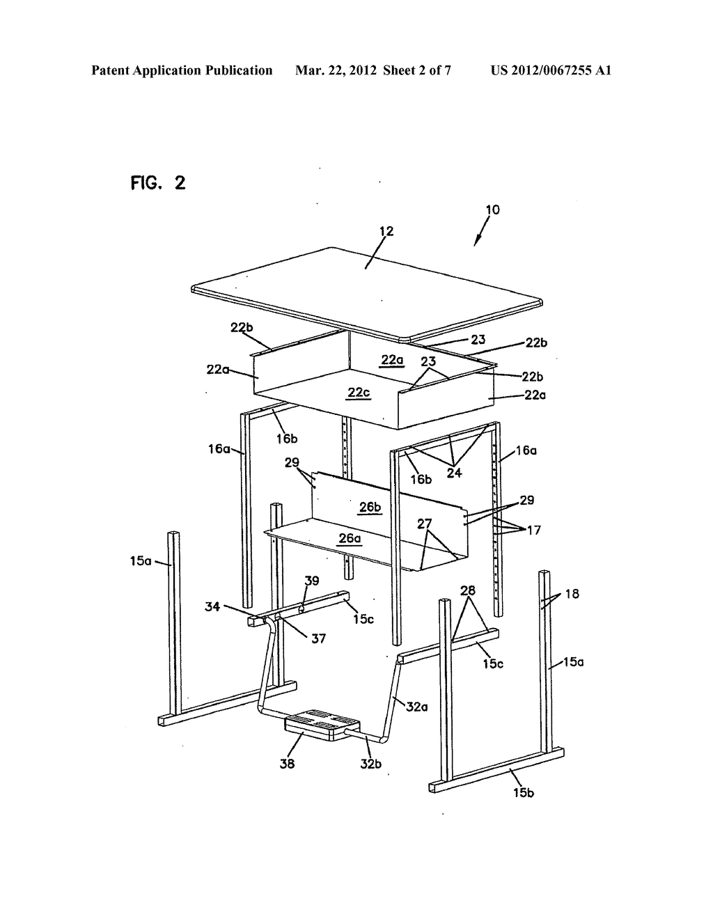 [SCHEMATICS_48IS]  ADJUSTABLE DESK AND FOOTREST ASSEMBLY - diagram, schematic, and image 03   Desk Schematic      Patents