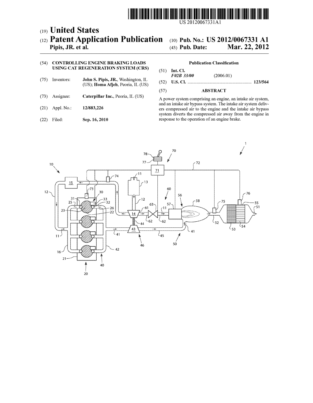 Controlling engine braking loads using cat regeneration system (CRS) -  diagram, schematic, and image 01