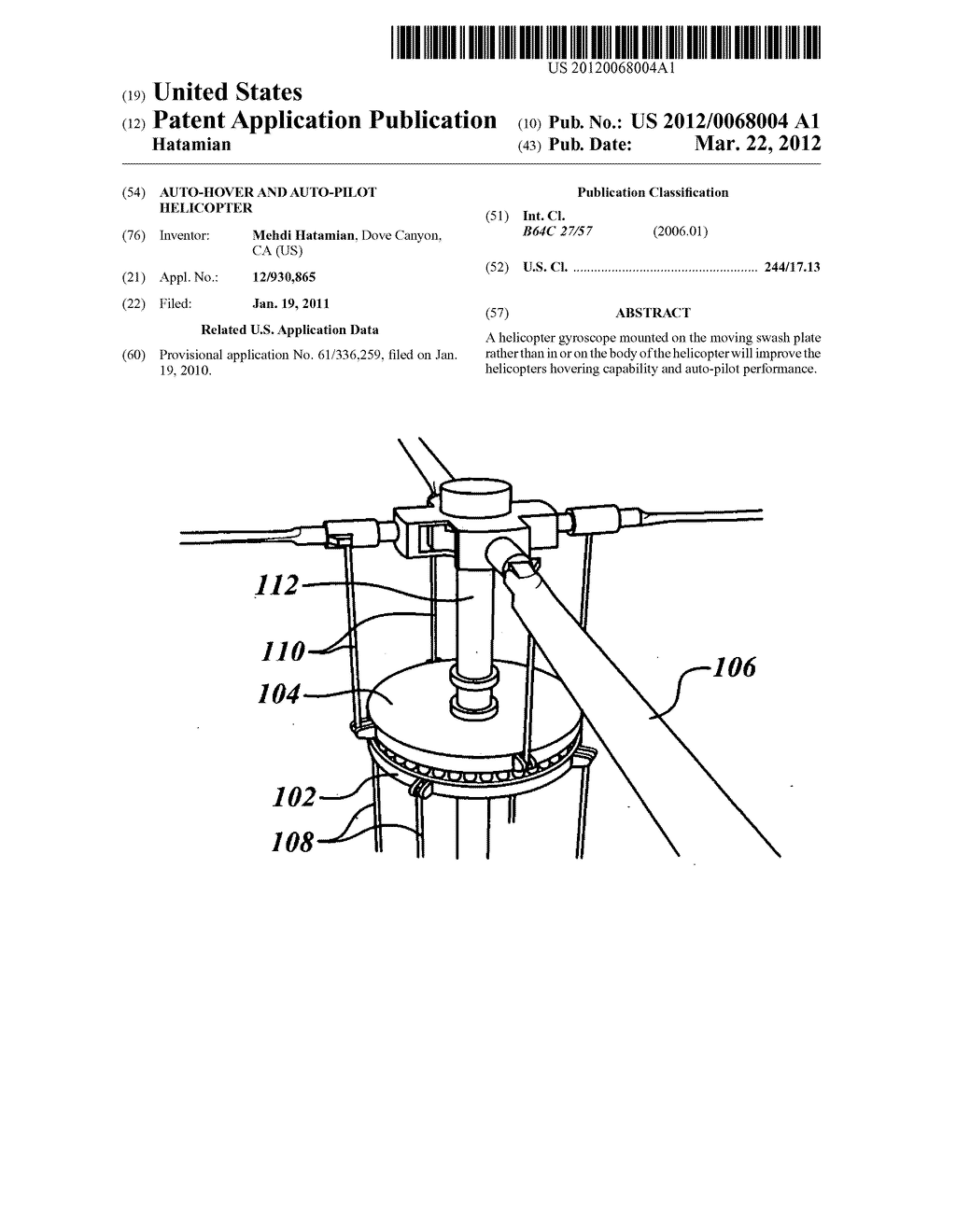 Auto-hover and auto-pilot helicopter - diagram, schematic ... on
