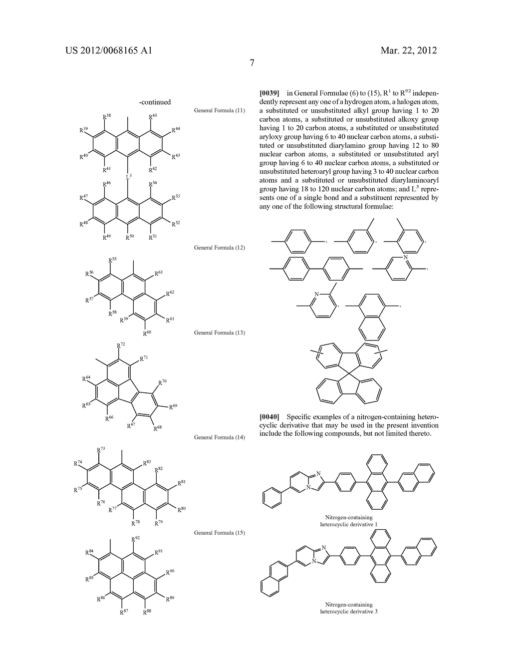 ORGANIC ELECTROLUMINESCENCE ELEMENT - diagram, schematic, and image 12