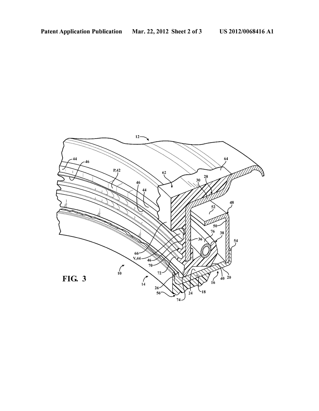 DYNAMIC RADIAL SHAFT SEAL ASSEMBLY WITH COMBINATION DUST EXCLUSION THRUST     PAD - diagram, schematic, and image 03