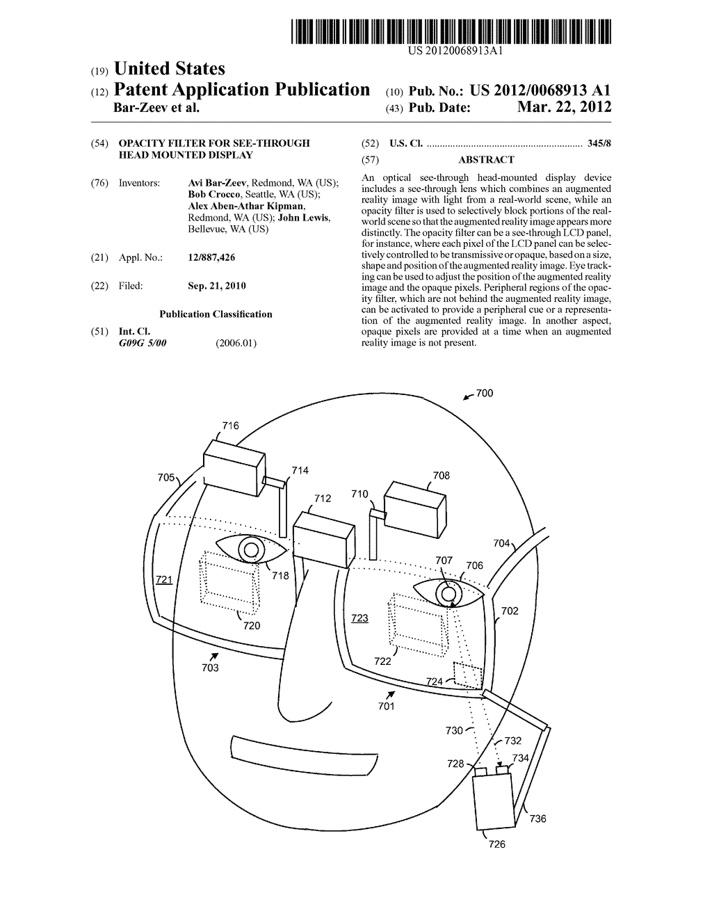 OPACITY FILTER FOR SEE-THROUGH HEAD MOUNTED DISPLAY - diagram, schematic, and image 01