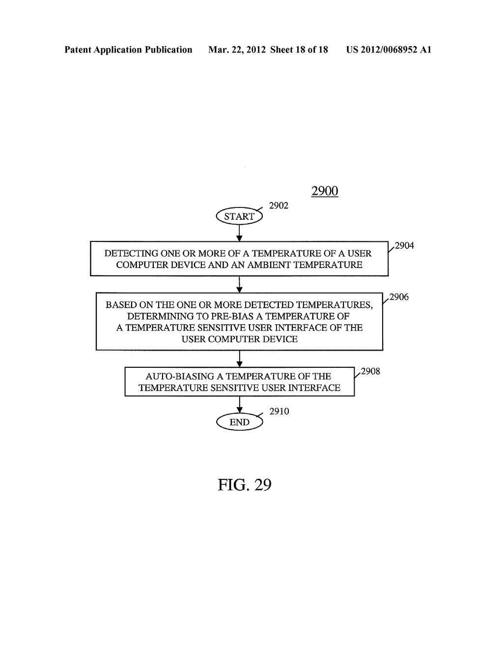USER COMPUTER DEVICE WITH TEMPERATURE SENSING CAPABILITIES AND METHOD OF     OPERATING SAME - diagram, schematic, and image 19