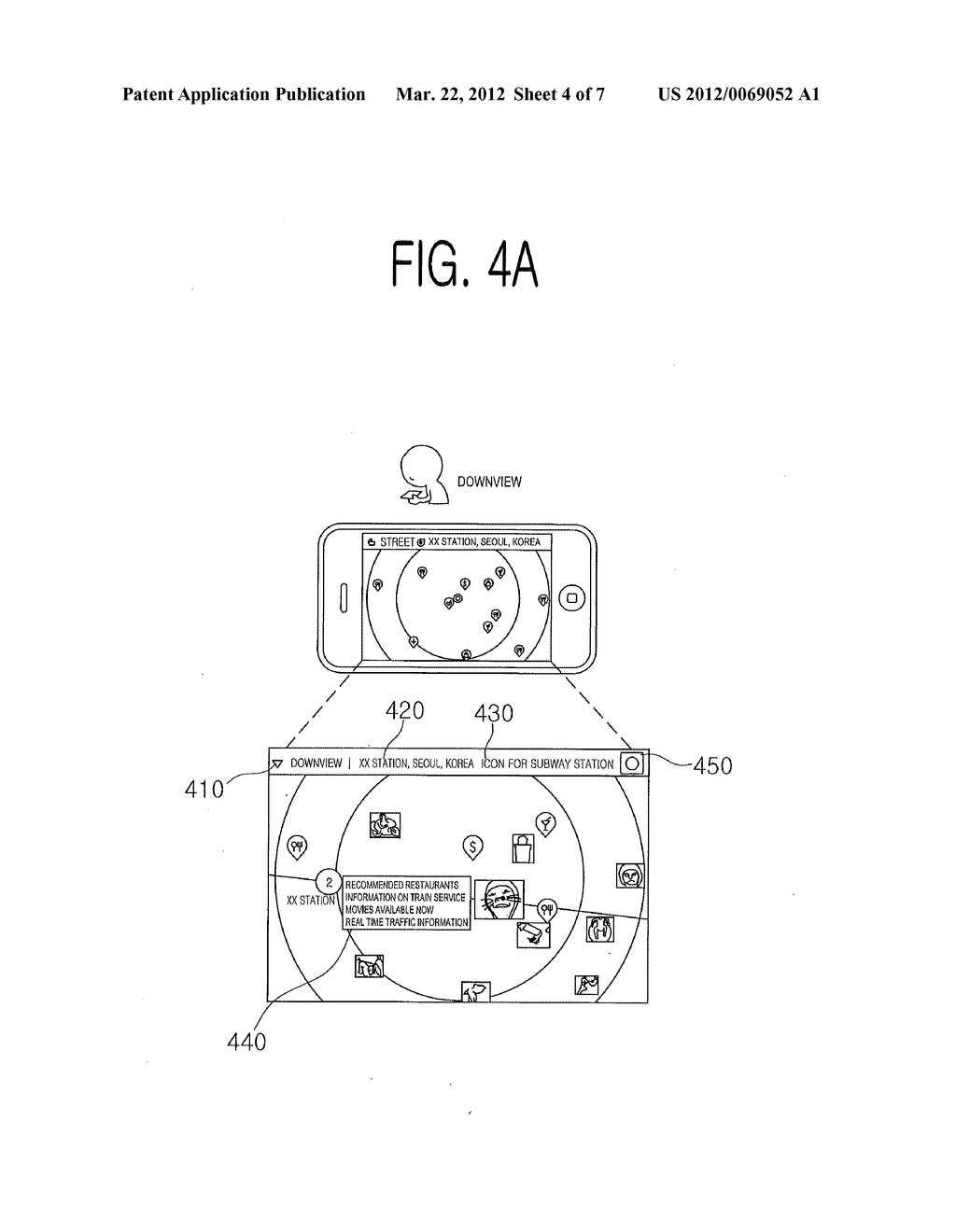 METHOD AND TERMINAL FOR PROVIDING DIFFERENT IMAGE INFORMATION IN     ACCORDANCE WITH THE ANGLE OF A TERMINAL, AND COMPUTER-READABLE RECORDING     MEDIUM - diagram, schematic, and image 05