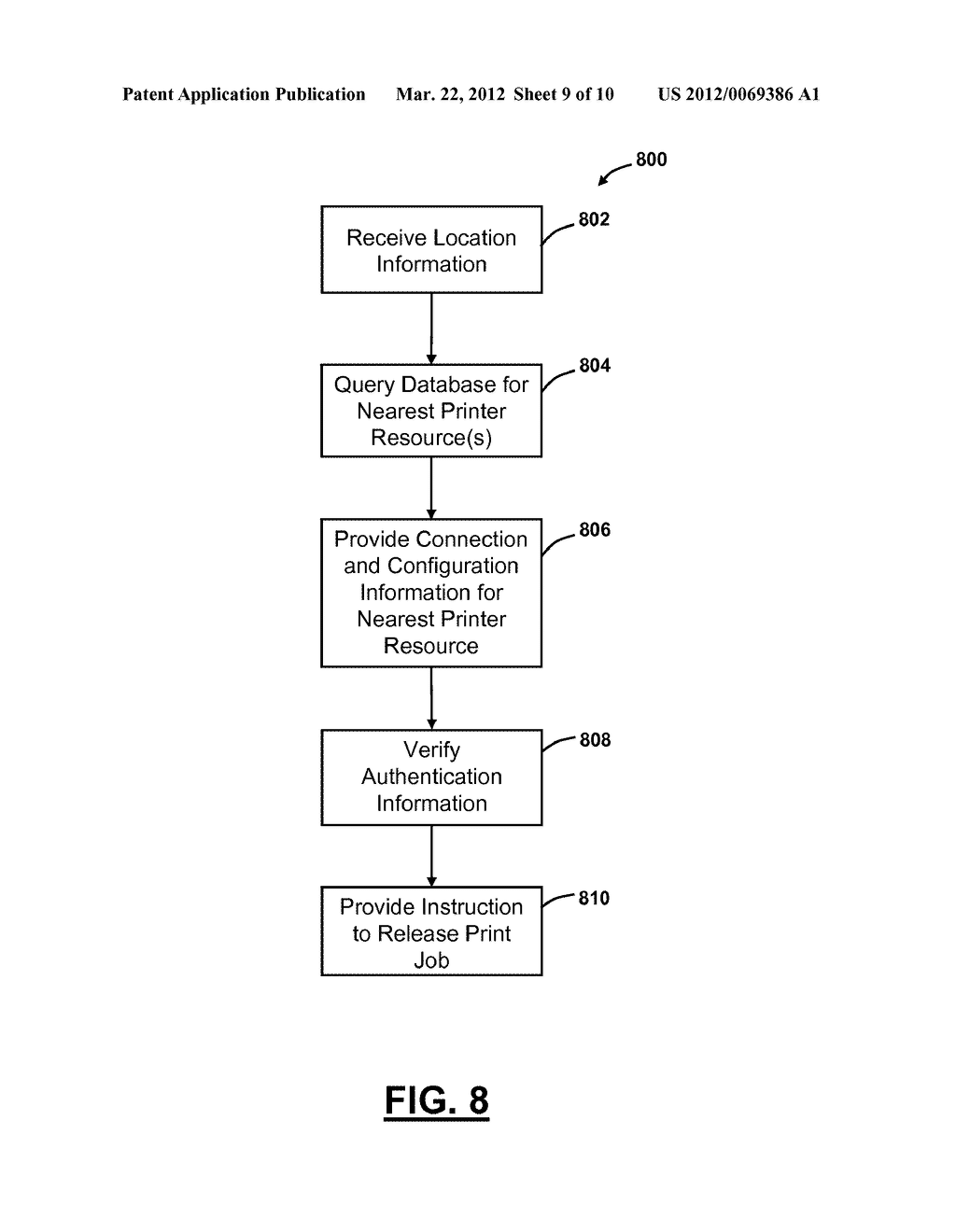 SYSTEM AND METHOD FOR RELEASING PRINT JOBS BASED ON LOCATION INFORMATION - diagram, schematic, and image 10