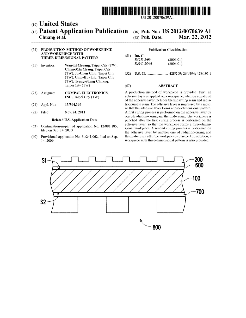 PRODUCTION METHOD OF WORKPIECE AND WORKPIECE WITH THREE-DIMENSIONAL     PATTERN - diagram, schematic, and image 01