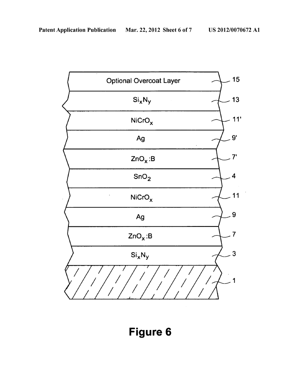Coated article having boron doped zinc oxide based seed layer with     enhanced durability under functional layer and method of making the same - diagram, schematic, and image 07
