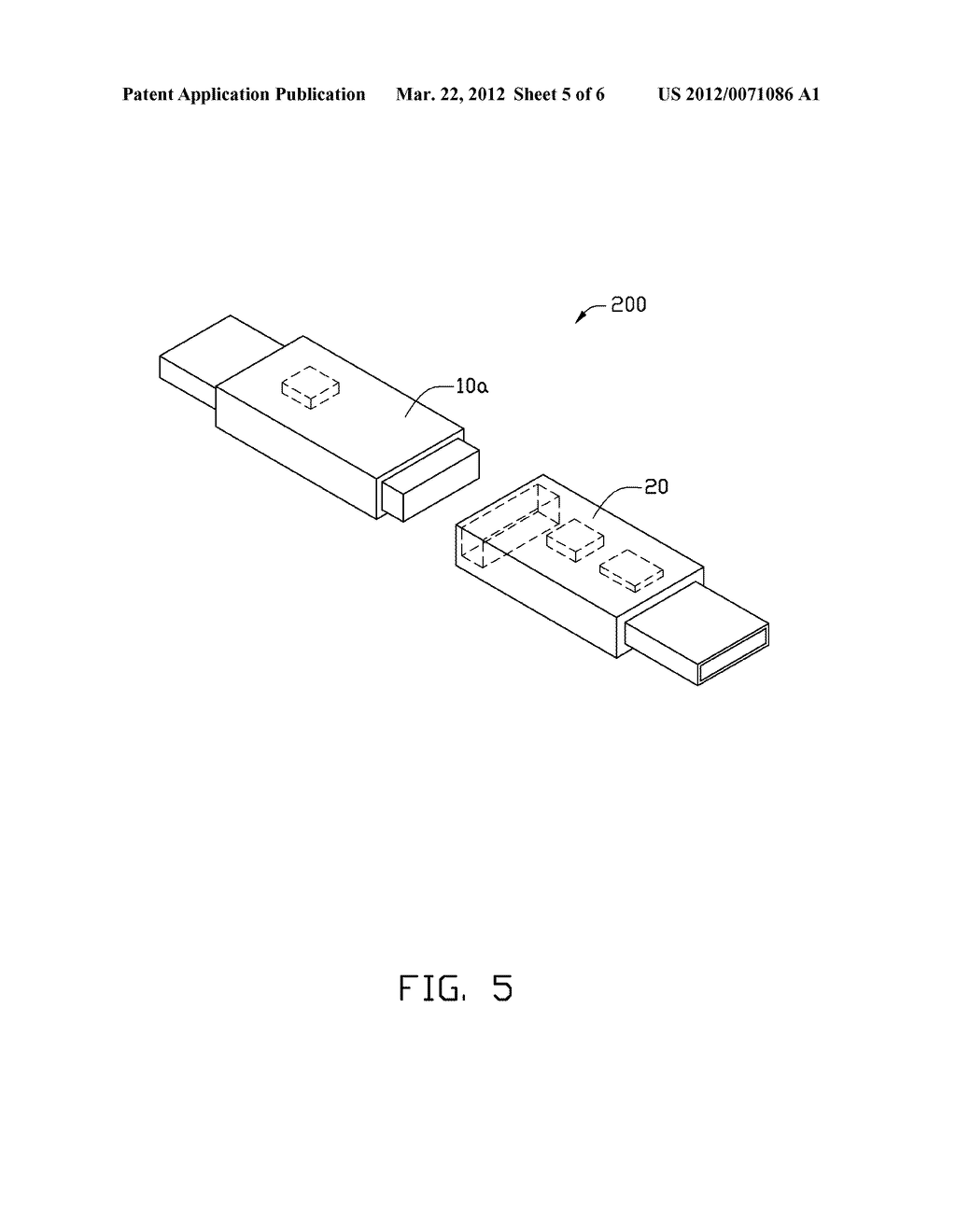 ELECTRONIC EQUIPMENT WITH SEPARABLE COMMUNICATIONS ELEMENTS AND ELECTRONIC     SYSTEM HAVING THE SAME - diagram, schematic, and image 06