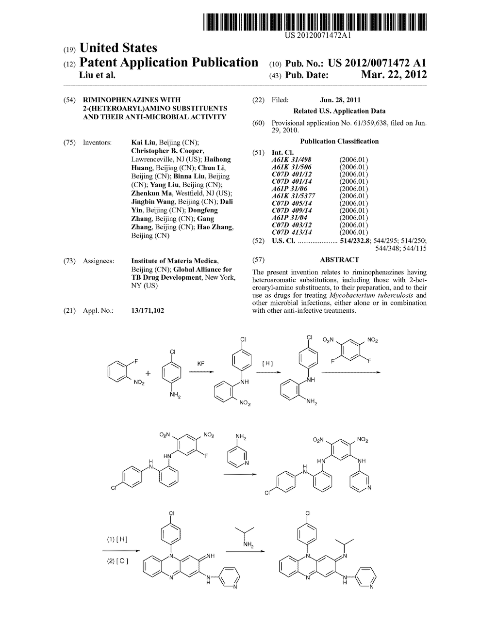 RIMINOPHENAZINES WITH 2-(HETEROARYL)AMINO SUBSTITUENTS AND THEIR     ANTI-MICROBIAL ACTIVITY - diagram, schematic, and image 01
