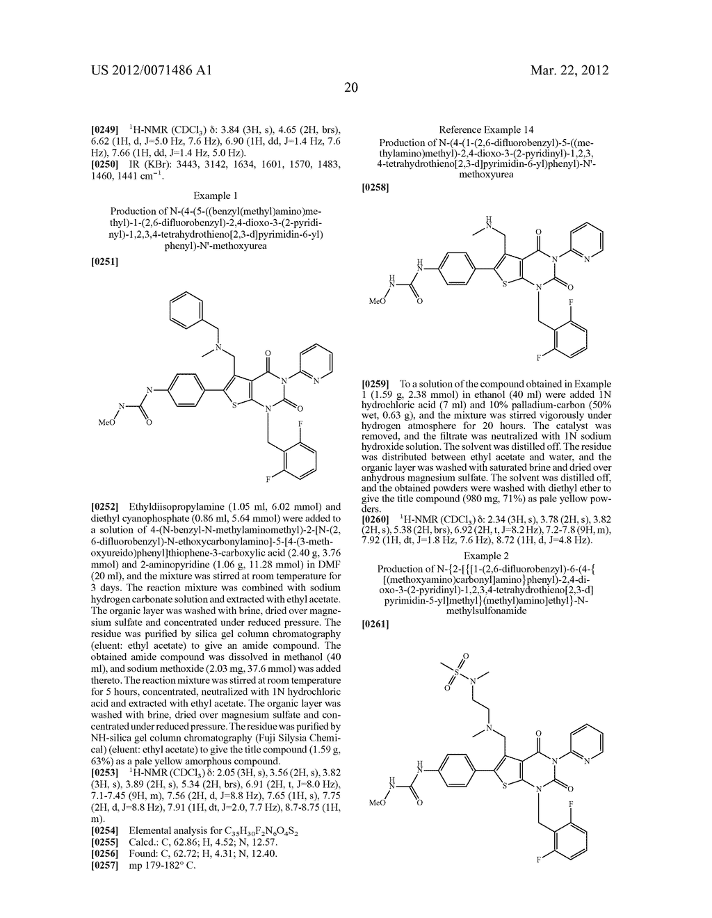 THIENOPYRIMIDINE COMPOUNDS AND USE THEREOF - diagram, schematic, and image 21
