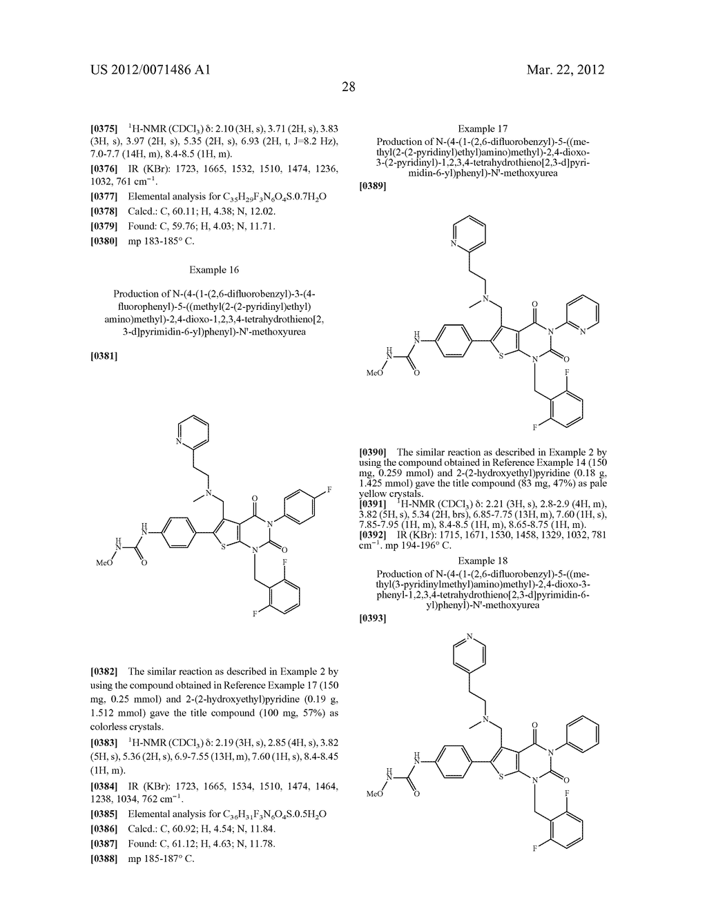 THIENOPYRIMIDINE COMPOUNDS AND USE THEREOF - diagram, schematic, and image 29