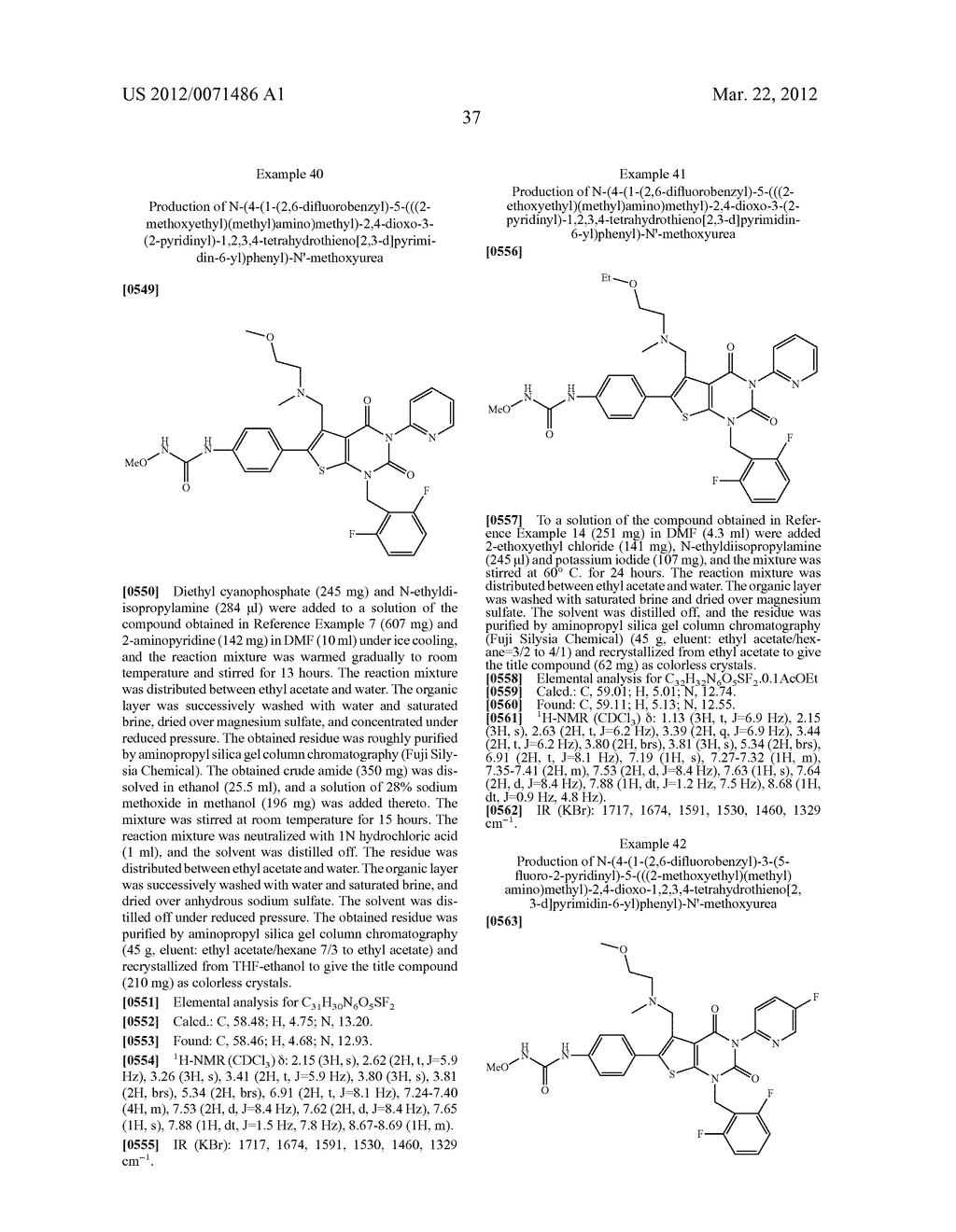 THIENOPYRIMIDINE COMPOUNDS AND USE THEREOF - diagram, schematic, and image 38