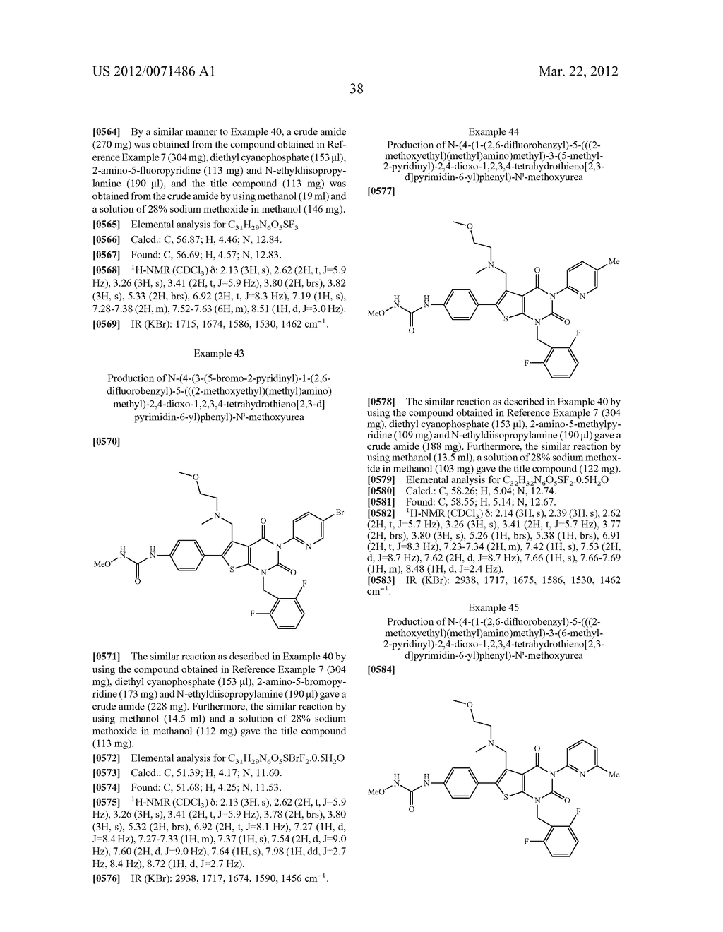 THIENOPYRIMIDINE COMPOUNDS AND USE THEREOF - diagram, schematic, and image 39