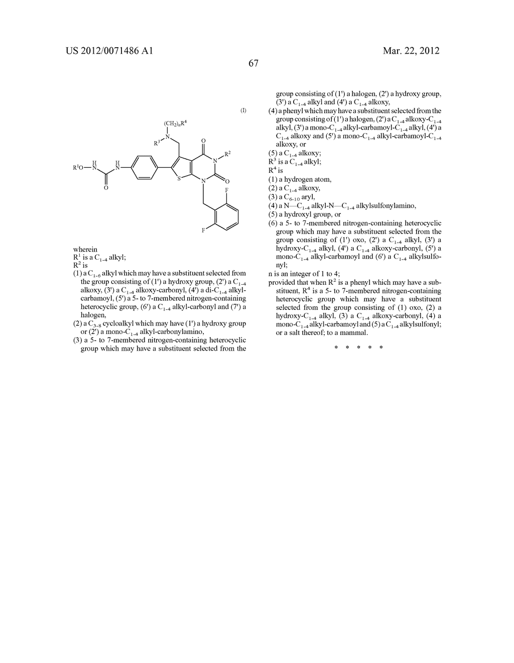 THIENOPYRIMIDINE COMPOUNDS AND USE THEREOF - diagram, schematic, and image 68