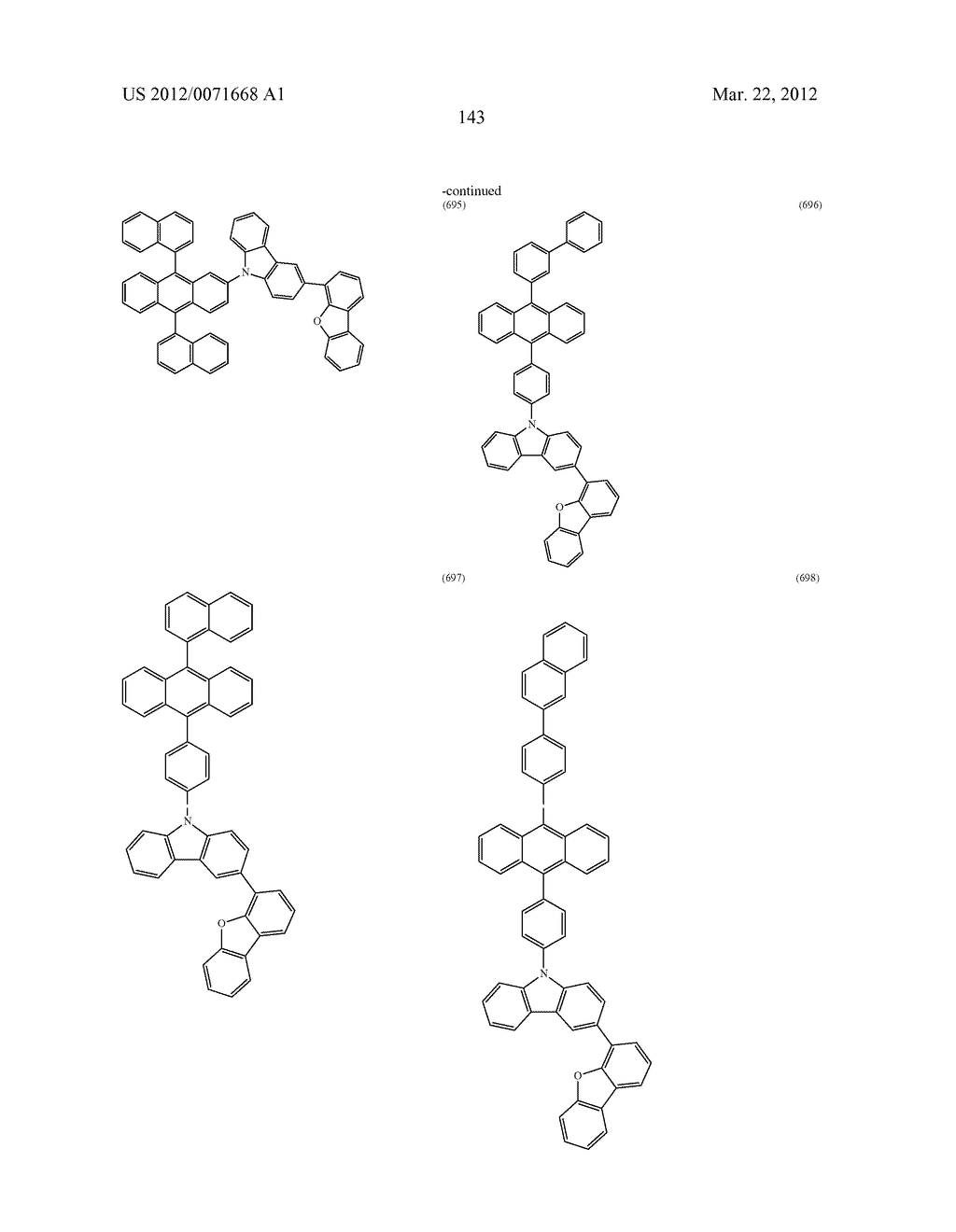 Carbazole Derivative, Light-Emitting Element Material and Organic     Semiconductor Material - diagram, schematic, and image 191