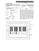ALTERING SOUND OUTPUT ON A VIRTUAL MUSIC KEYBOARD diagram and image