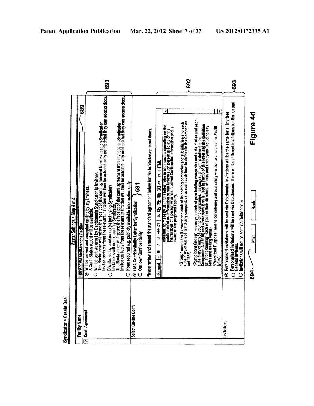 SYSTEM AND METHOD FOR DEAL MANAGEMENT OF SYNDICATED LOANS BY MULTIPLE     BOOKRUNNERS - diagram, schematic, and image 08