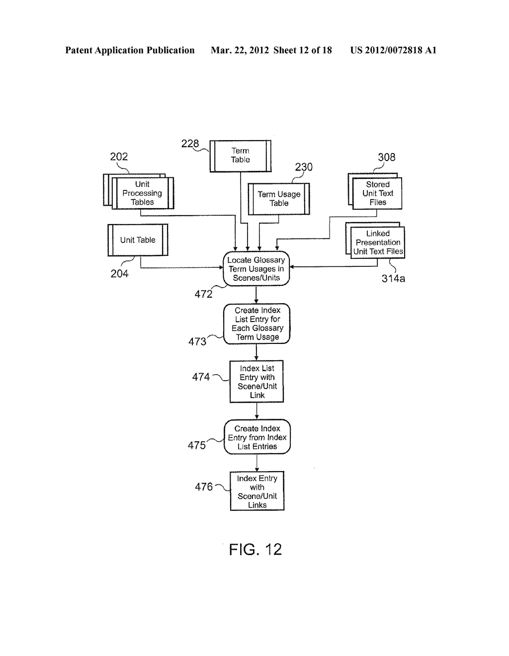 METHOD AND APPARATUS FOR ELECTRONIC LITERARY MACRAME COMPONENT REFERENCING - diagram, schematic, and image 13