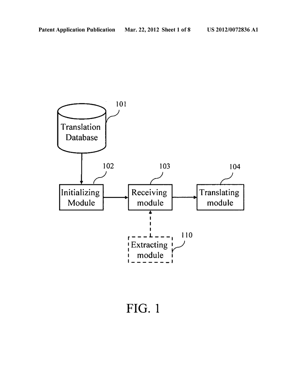 Displaying system of translation words and displaying method thereof - diagram, schematic, and image 02