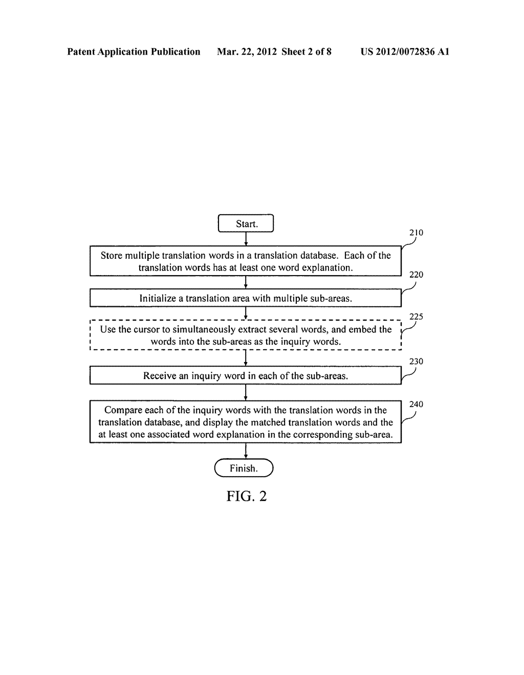 Displaying system of translation words and displaying method thereof - diagram, schematic, and image 03