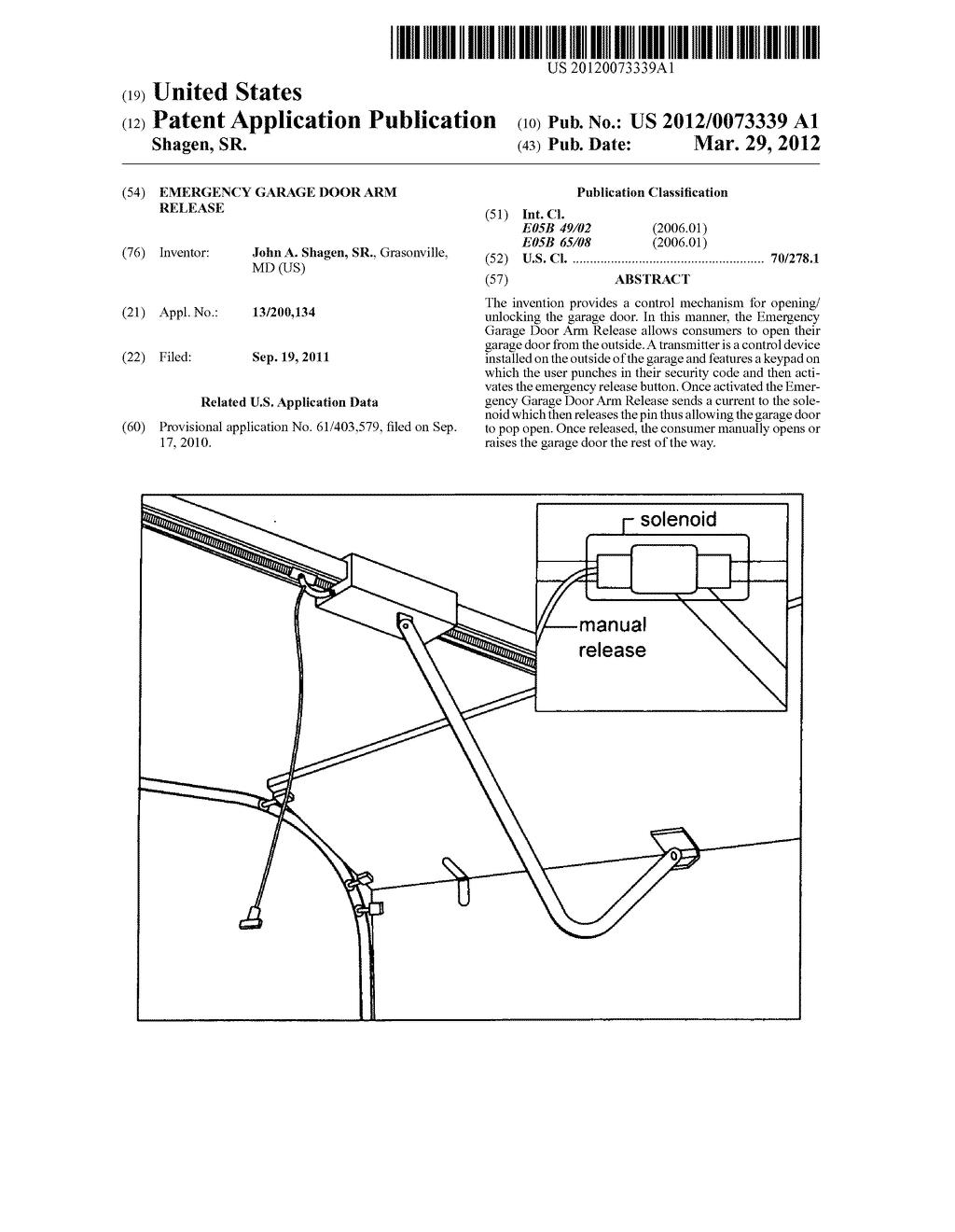 Emergency Garage Door Arm Release   Diagram, Schematic, And Image 01