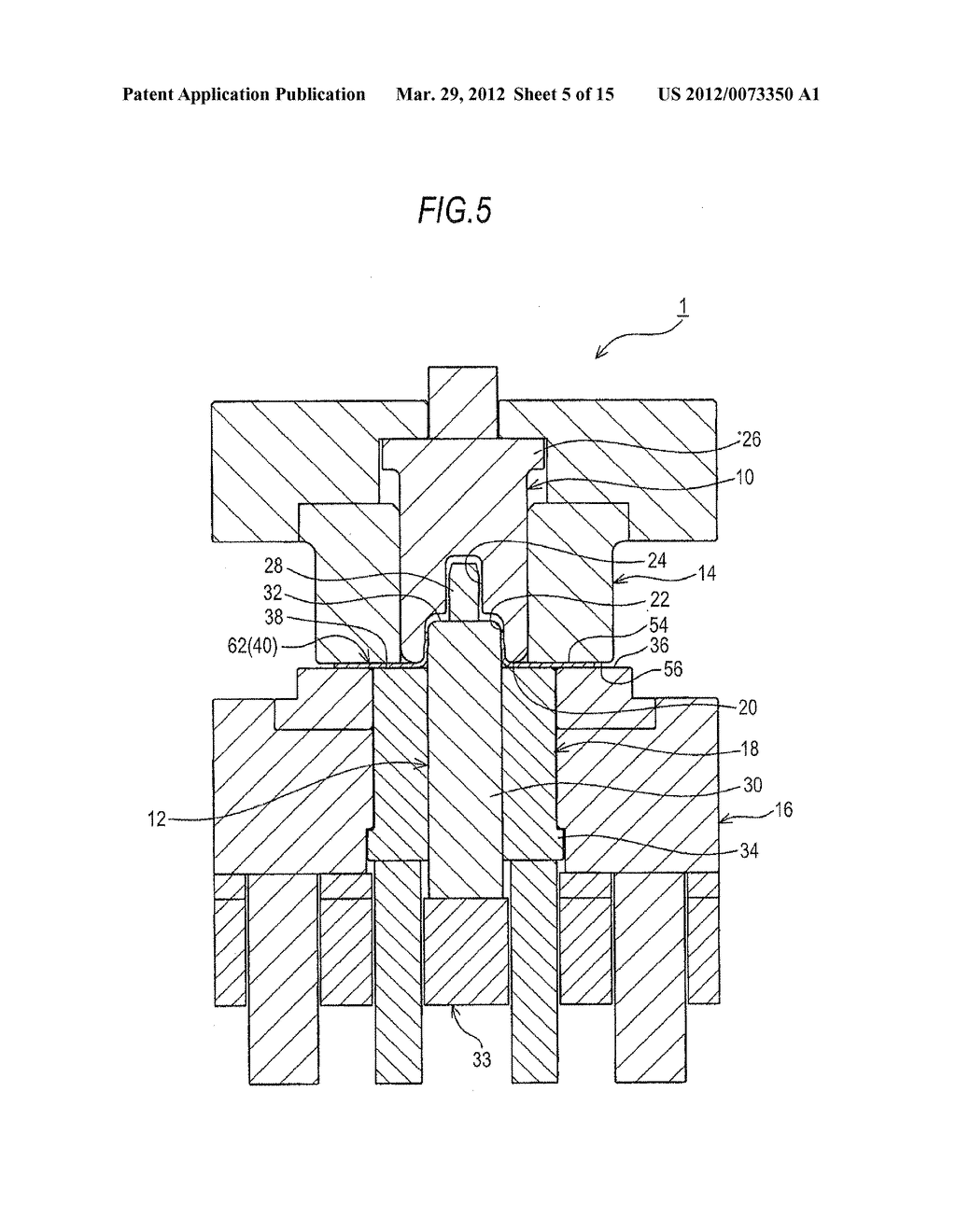 BOSSED DISC-LIKE MEMBER MANUFACTURING METHOD AND BOSSED DISC-LIKE MEMBER     MANUFACTURING APPARATUS - diagram, schematic, and image 06