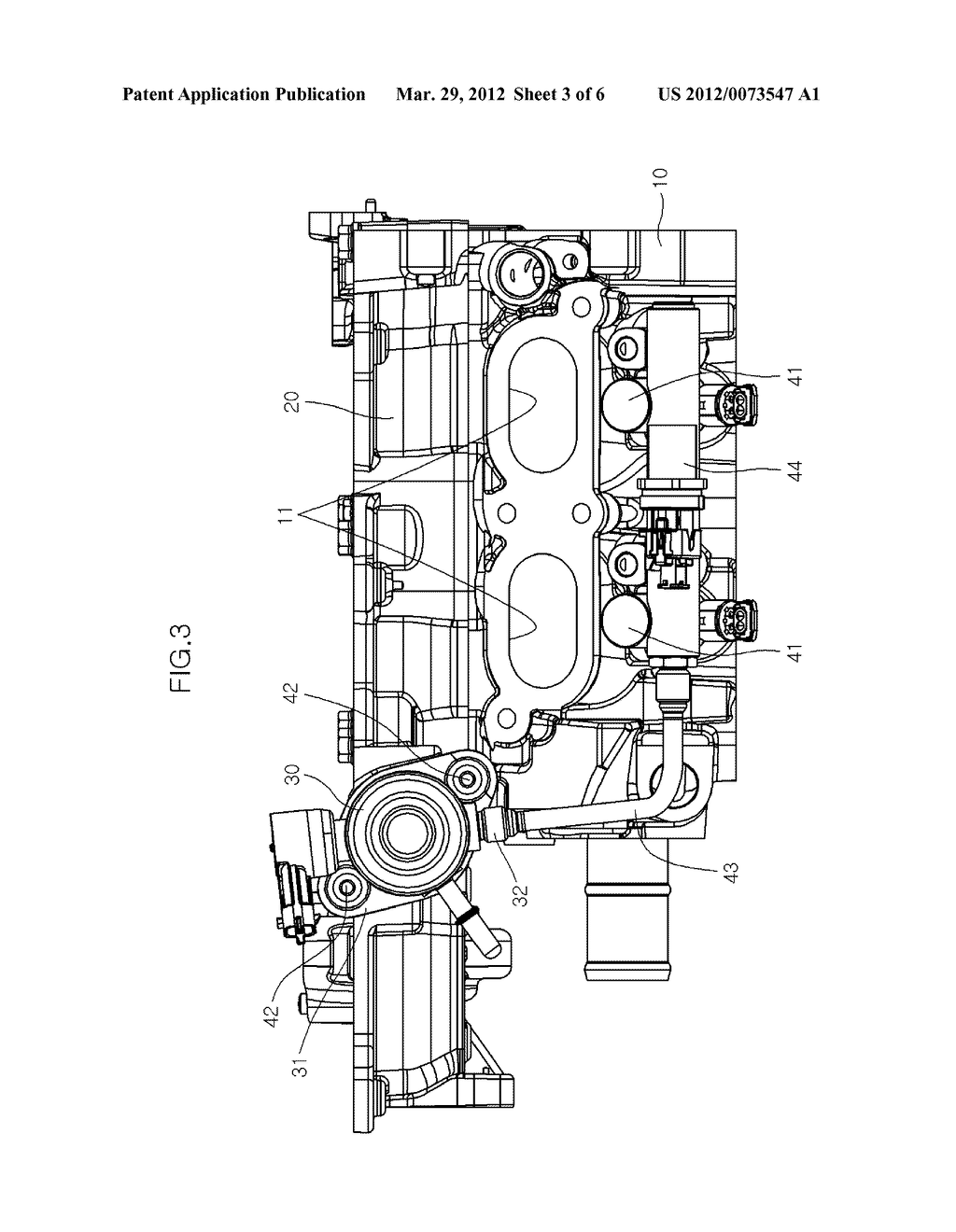 MOUNTING STRUCTURE OF HIGH PRESSURE FUEL PUMP FOR GASOLINE DIRECT INJECTION  ENGINE - diagram, schematic, and image 04