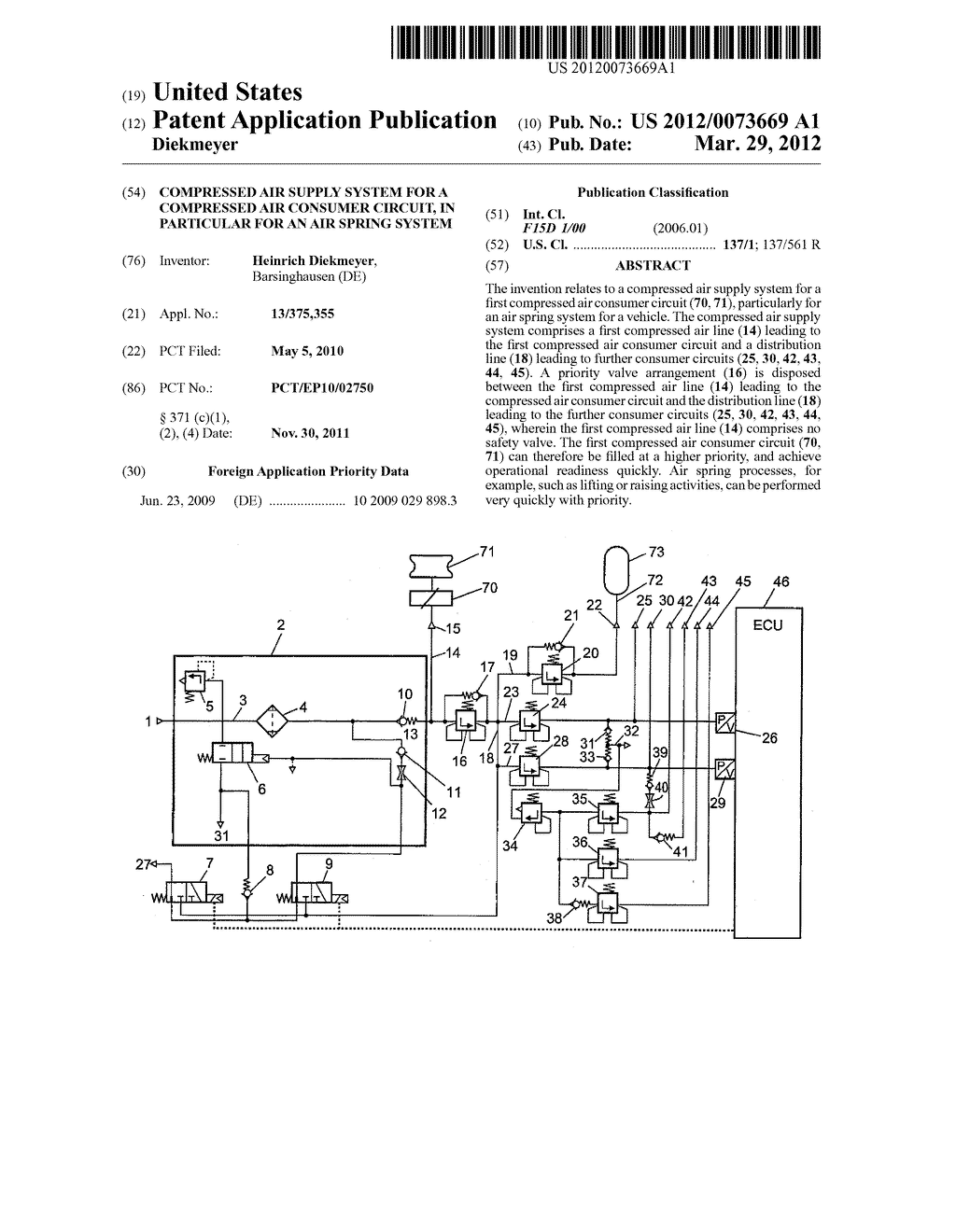 Compressed Air Supply System For A Consumer Circuit Schematic In Particular An Spring Diagram And Image 01