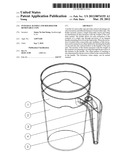 Integral handle and holder for removable cups diagram and image