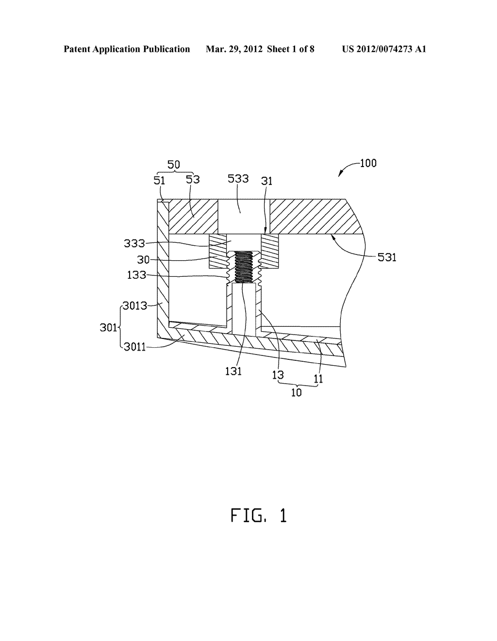 HEIGHT ADJUSTMENT MECHANISM AND ASSEMBLY METHOD FOR ELECTRONIC DEVICE     USING THE SAME - diagram, schematic, and image 02