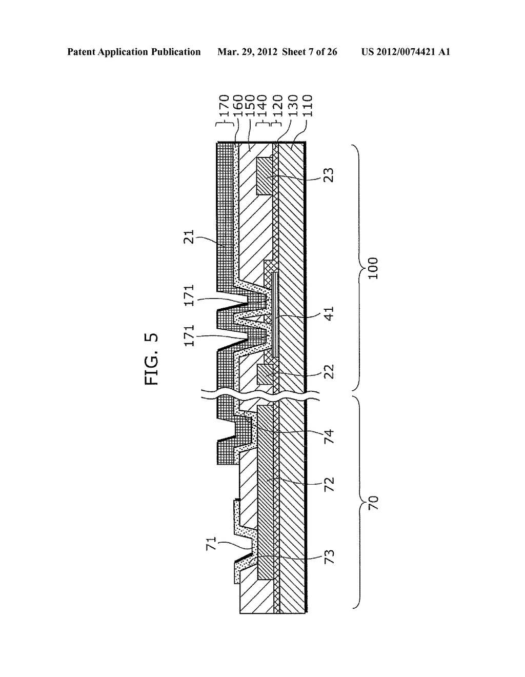 THIN-FILM TRANSISTOR ARRAY DEVICE, EL DISPLAY PANEL, EL DISPLAY DEVICE,     THIN-FILM TRANSISTOR ARRAY DEVICE MANUFACTURING METHOD, EL DISPLAY PANEL     MANUFACTURING METHOD - diagram, schematic, and image 08