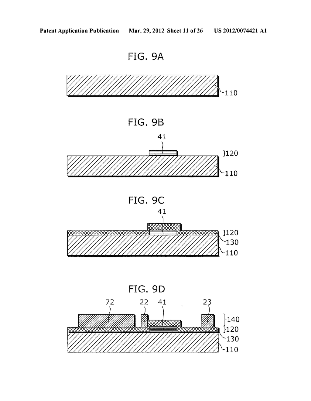THIN-FILM TRANSISTOR ARRAY DEVICE, EL DISPLAY PANEL, EL DISPLAY DEVICE,     THIN-FILM TRANSISTOR ARRAY DEVICE MANUFACTURING METHOD, EL DISPLAY PANEL     MANUFACTURING METHOD - diagram, schematic, and image 12