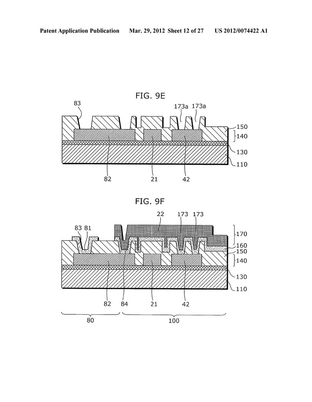 THIN-FILM TRANSISTOR ARRAY DEVICE, EL DISPLAY PANEL, EL DISPLAY DEVICE,     THIN-FILM TRANSISTOR ARRAY DEVICE MANUFACTURING METHOD, EL DISPLAY PANEL     MANUFACTURING METHOD - diagram, schematic, and image 13