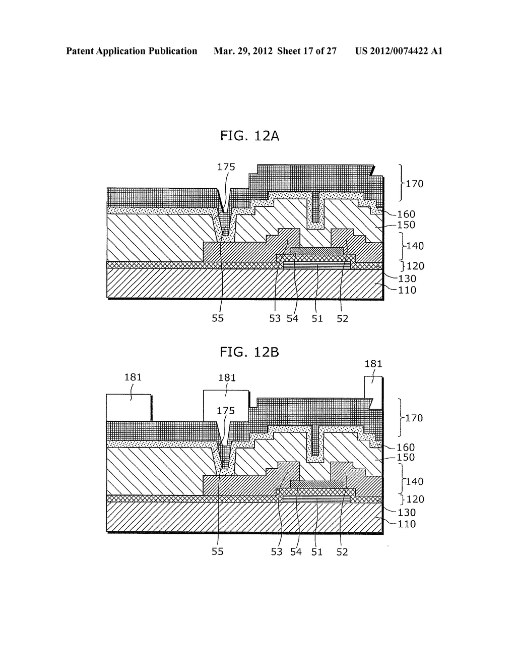 THIN-FILM TRANSISTOR ARRAY DEVICE, EL DISPLAY PANEL, EL DISPLAY DEVICE,     THIN-FILM TRANSISTOR ARRAY DEVICE MANUFACTURING METHOD, EL DISPLAY PANEL     MANUFACTURING METHOD - diagram, schematic, and image 18