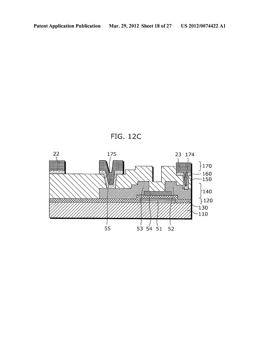 THIN-FILM TRANSISTOR ARRAY DEVICE, EL DISPLAY PANEL, EL DISPLAY DEVICE,     THIN-FILM TRANSISTOR ARRAY DEVICE MANUFACTURING METHOD, EL DISPLAY PANEL     MANUFACTURING METHOD - diagram, schematic, and image 19