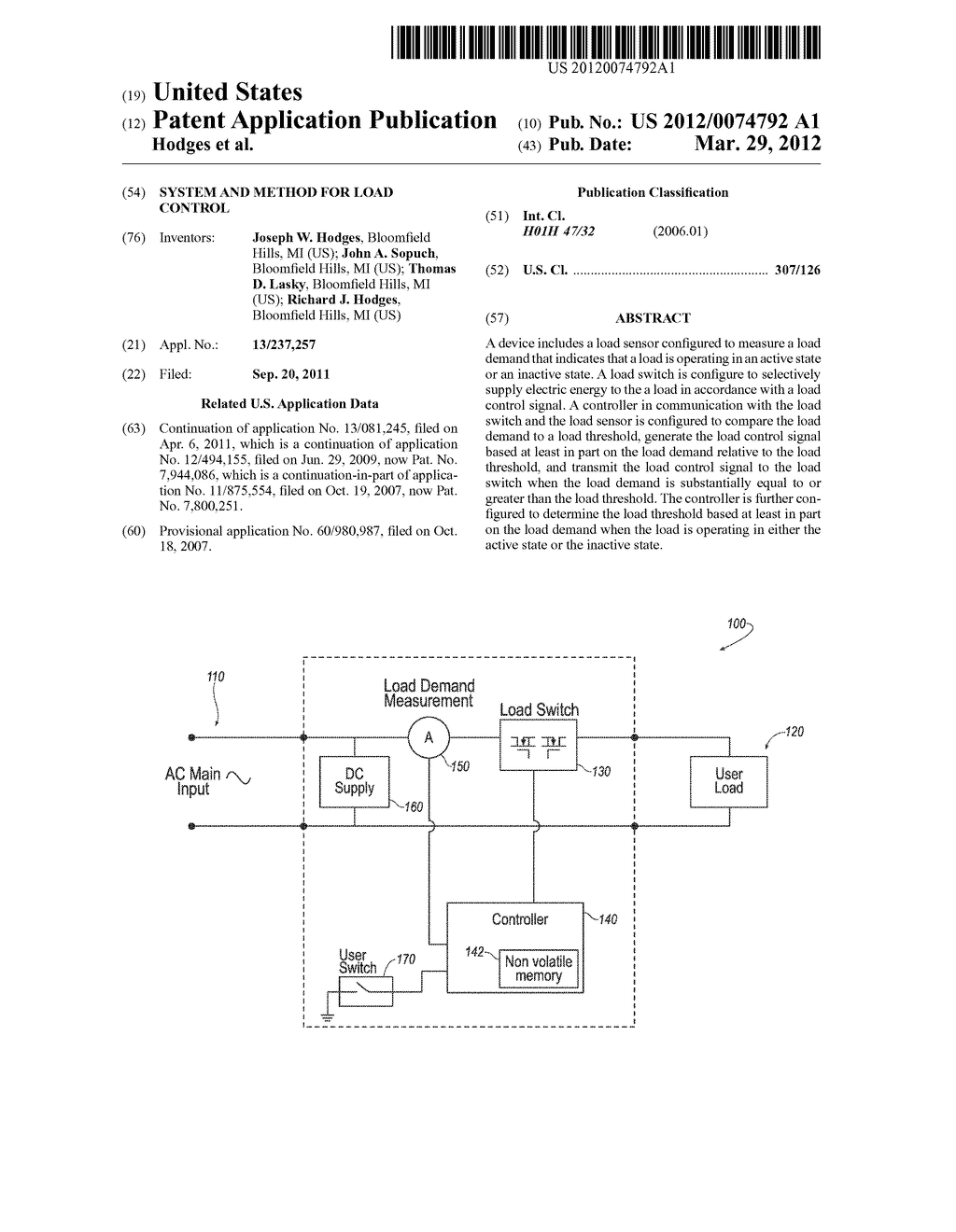 SYSTEM AND METHOD FOR LOAD CONTROL - diagram, schematic, and image 01