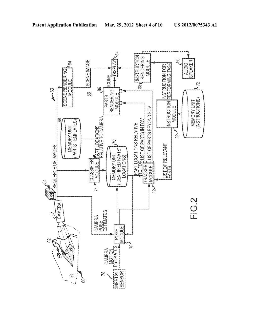 AUGMENTED REALITY (AR) SYSTEM AND METHOD FOR TRACKING PARTS AND VISUALLY     CUEING A USER TO IDENTIFY AND LOCATE PARTS IN A SCENE - diagram, schematic, and image 05