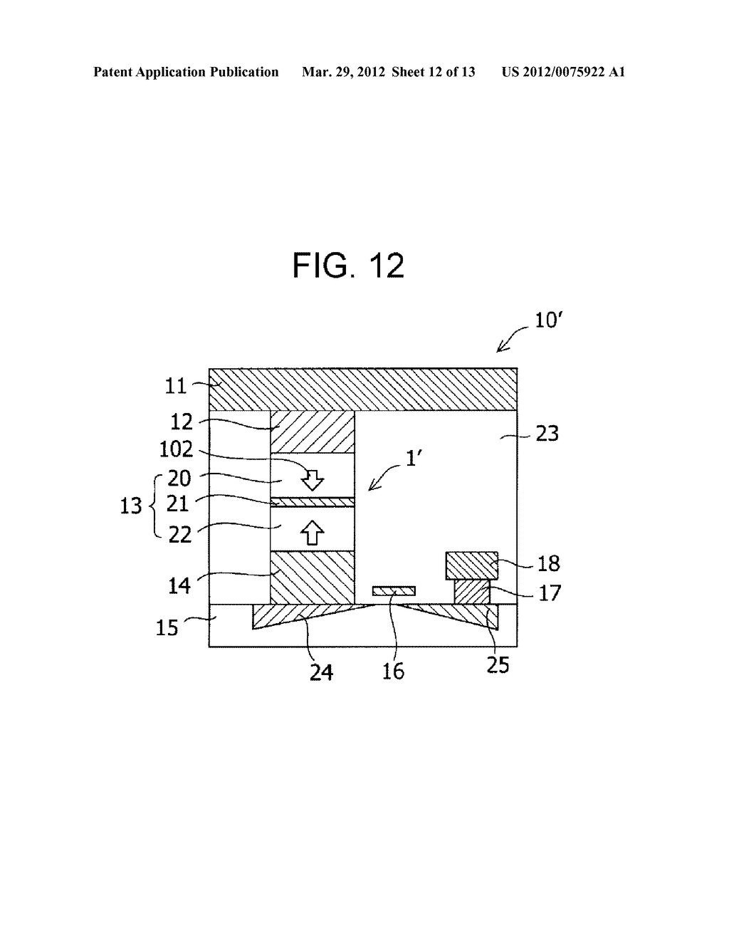 MAGNETIC MEMORY ELEMENT AND STORAGE DEVICE USING THE SAME - diagram, schematic, and image 13