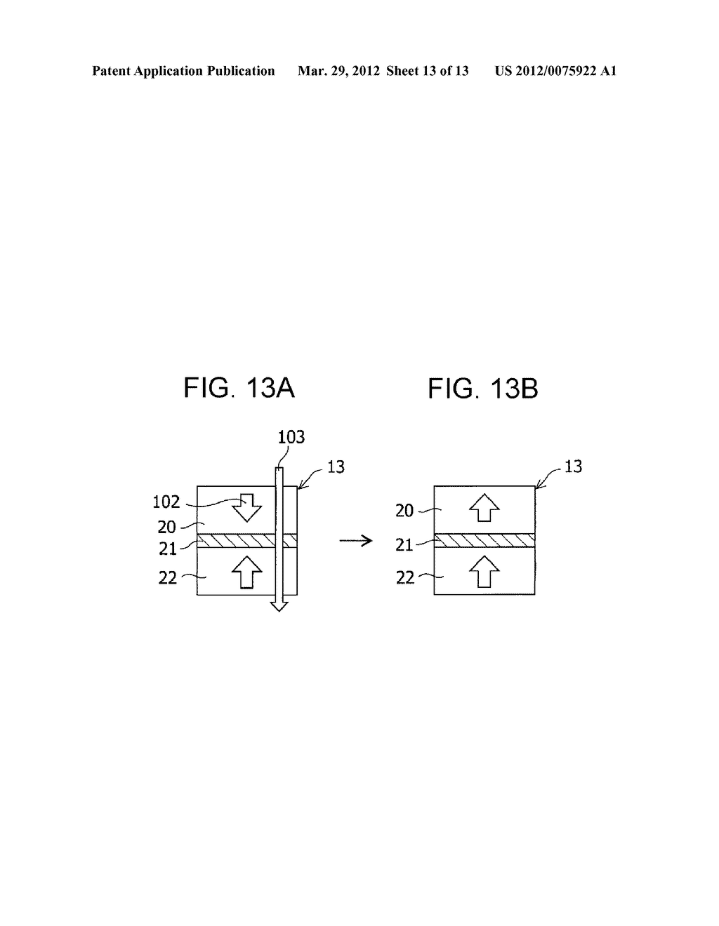 MAGNETIC MEMORY ELEMENT AND STORAGE DEVICE USING THE SAME - diagram, schematic, and image 14