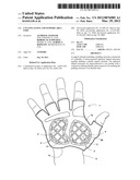 Cycling Glove And Support Area Pads diagram and image