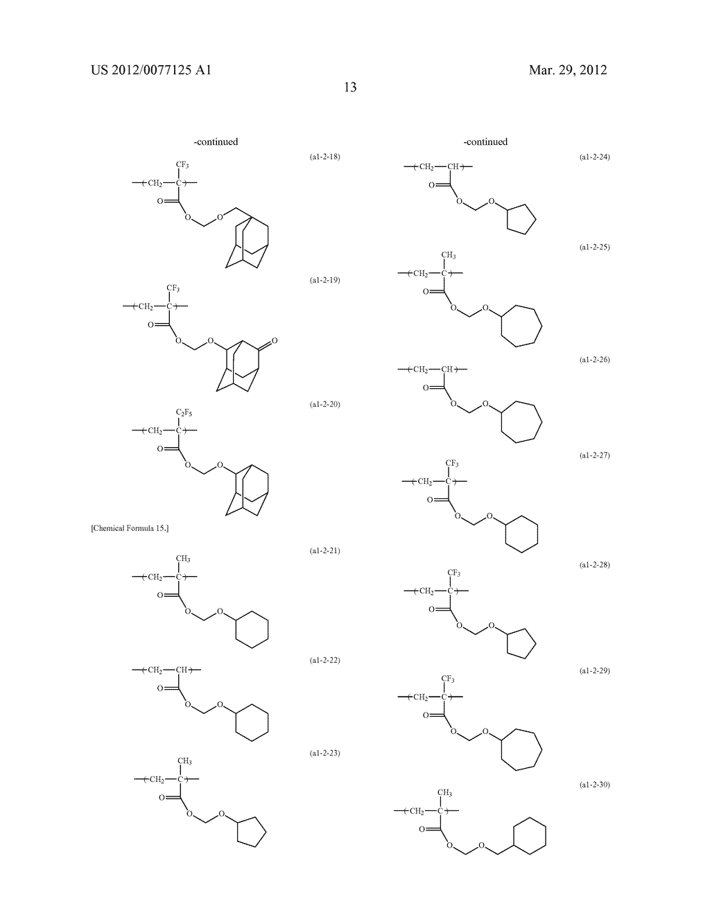 RESIST COMPOSITION FOR IMMERSION EXPOSURE, METHOD OF FORMING RESIST     PATTERN USING THE SAME, AND FLUORINE-CONTAINING COMPOUND - diagram, schematic, and image 15