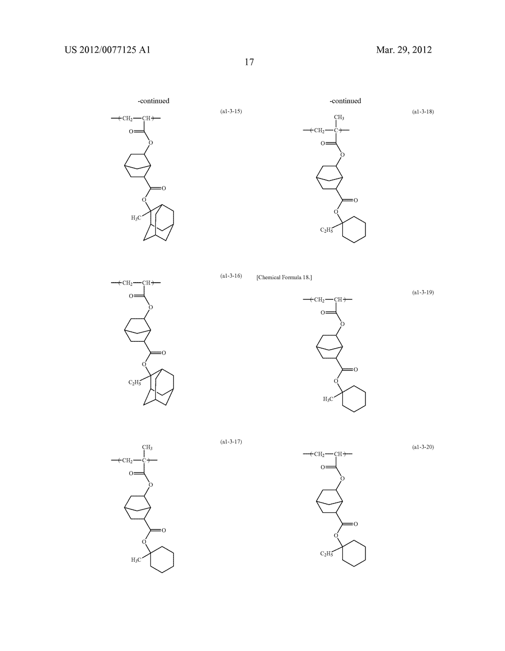 RESIST COMPOSITION FOR IMMERSION EXPOSURE, METHOD OF FORMING RESIST     PATTERN USING THE SAME, AND FLUORINE-CONTAINING COMPOUND - diagram, schematic, and image 19