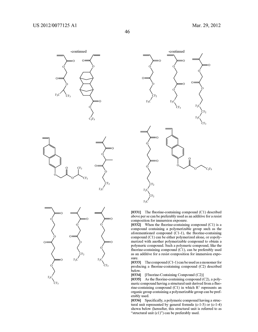 RESIST COMPOSITION FOR IMMERSION EXPOSURE, METHOD OF FORMING RESIST     PATTERN USING THE SAME, AND FLUORINE-CONTAINING COMPOUND - diagram, schematic, and image 48