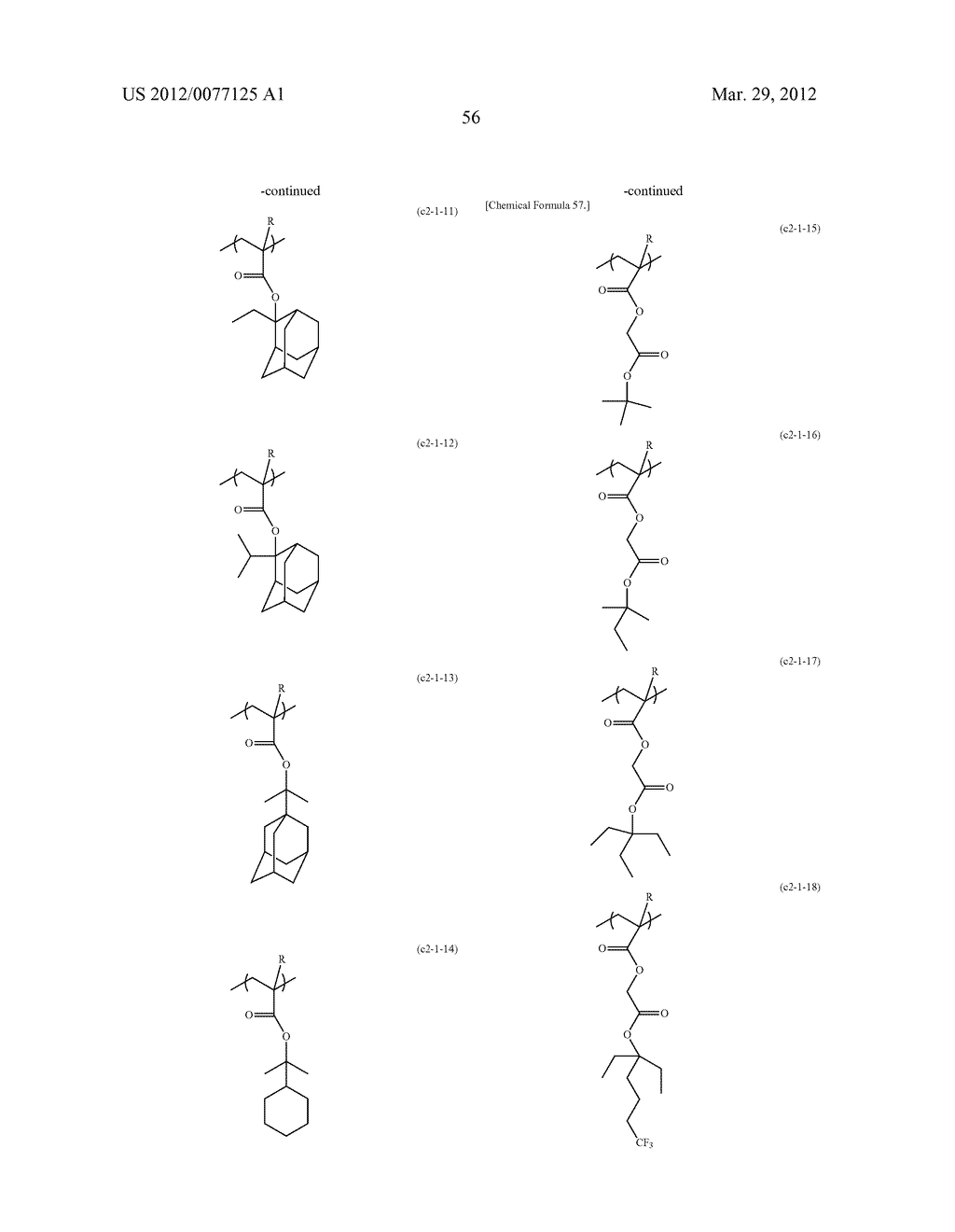 RESIST COMPOSITION FOR IMMERSION EXPOSURE, METHOD OF FORMING RESIST     PATTERN USING THE SAME, AND FLUORINE-CONTAINING COMPOUND - diagram, schematic, and image 58